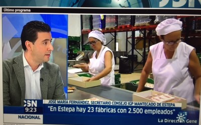 Buenos días de Canal Sur hace escala en Estepa en su recta final de producción de mantecados