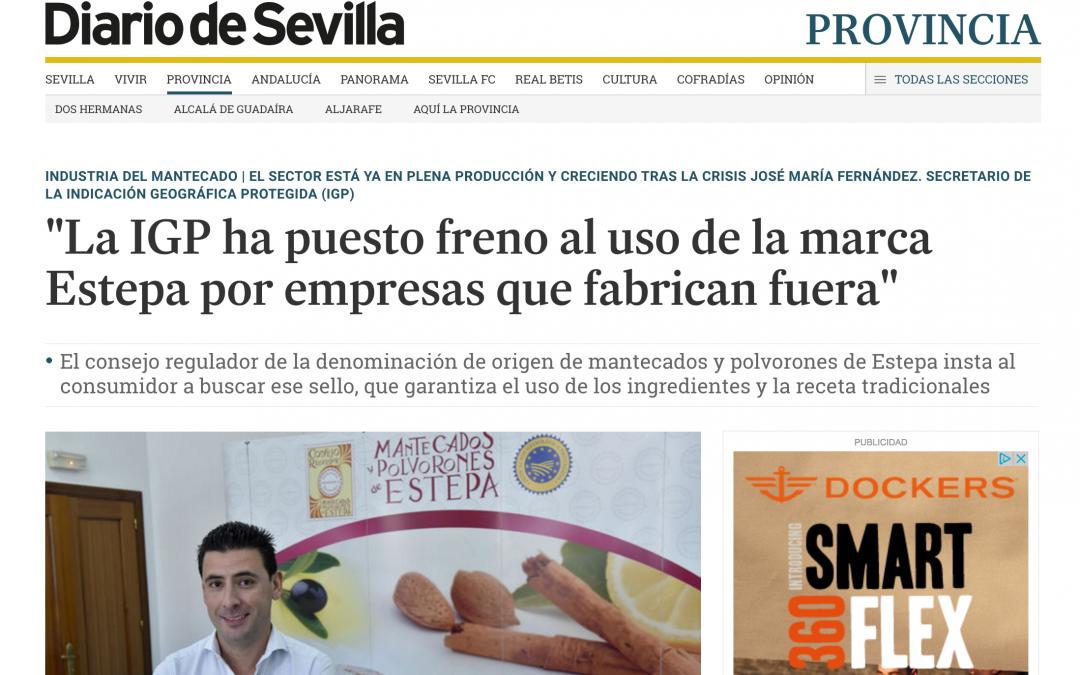 """""""La IGP ha puesto freno al uso de la marca Estepa por empresas que fabrican fuera"""""""