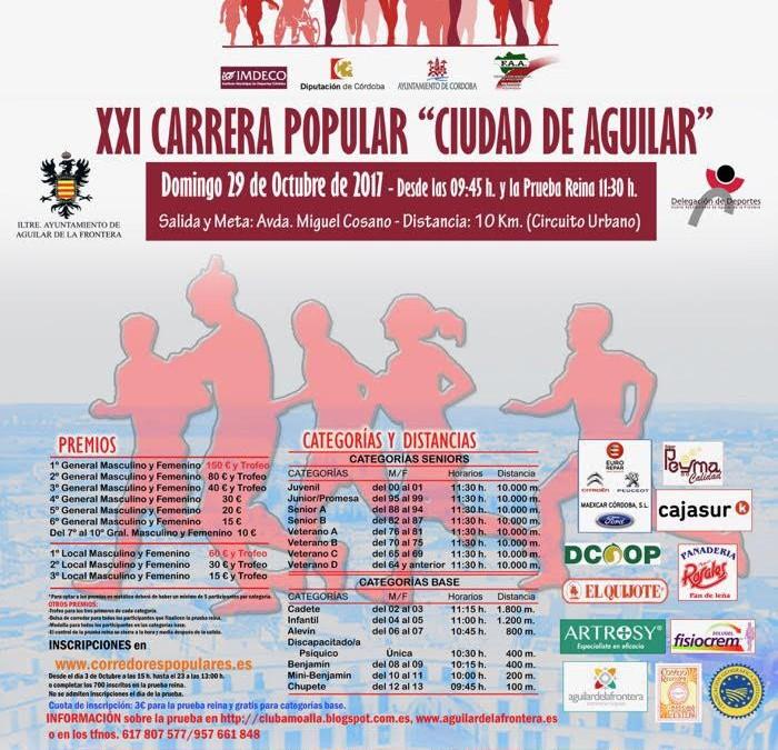La carrera popular de Aguilar de la Frontera volverá a entregar mantecados de Estepa