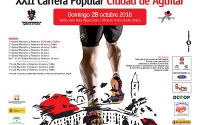 Mantecados de Estepa en la XXII Carrera Popular de Aguilar de la Frontera