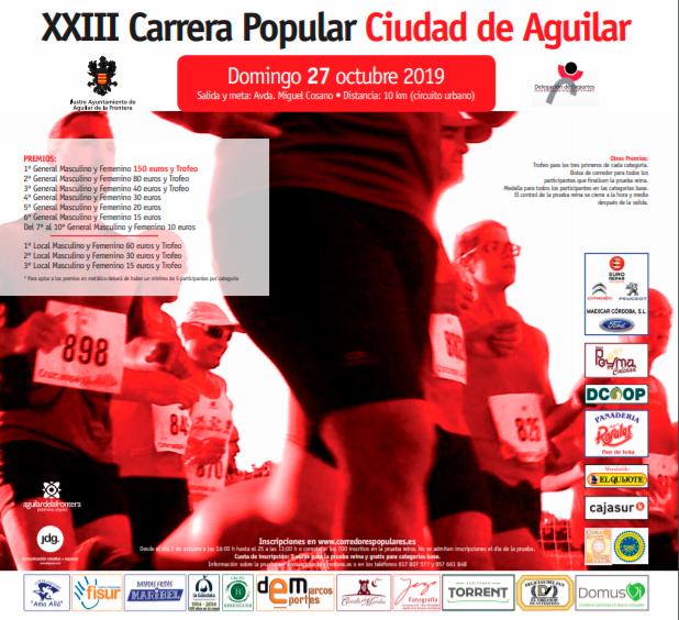 Por quinto año consecutivo endulzamos la carrera popular de Aguilar de la Frontera